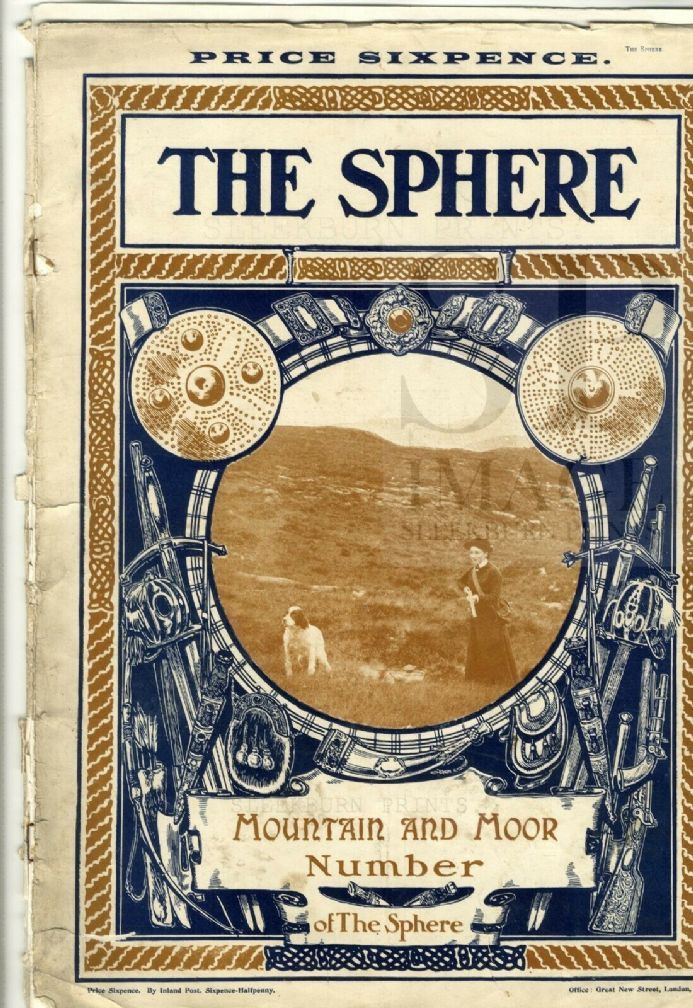 1910 THE SPHERE Newspaper MOUNTAINEERING MT BLANC Aldwych Strand HMS LION (1550)